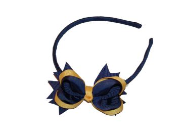Alice Band - Navy/Gold